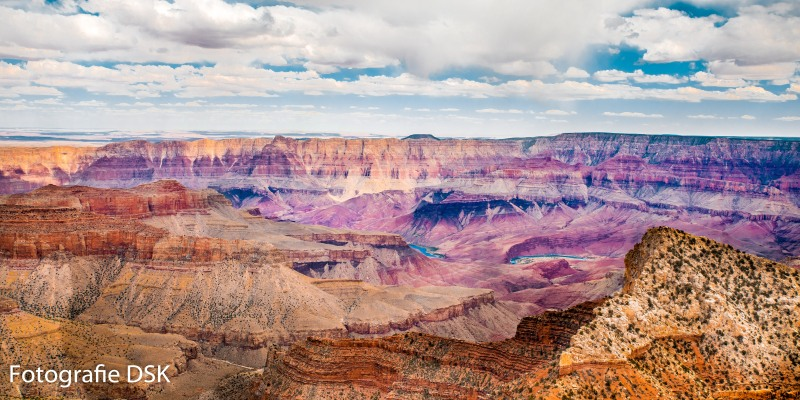 Grand Canyon Felsenformationen - viele Farben